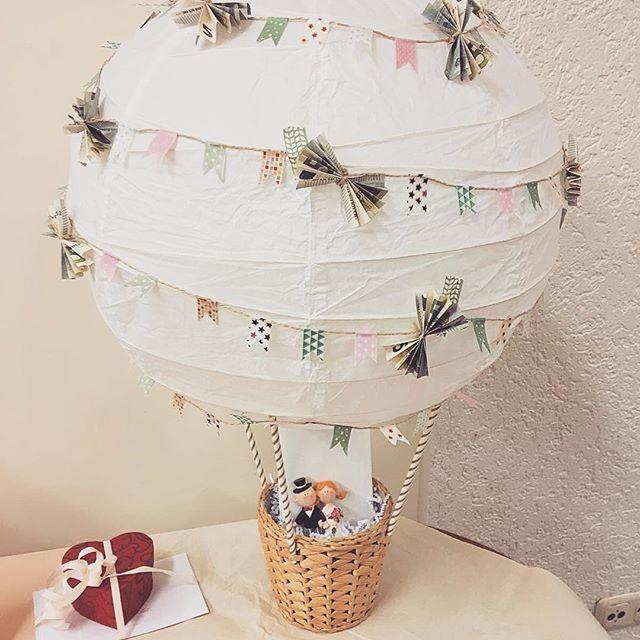Geldgeschenk Hochzeit Diy  Rückmeldung & Bastelanleitung Heißluftballon als