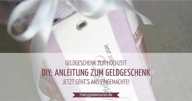 Geldgeschenk Hochzeit Diy  Geldgeschenk zur Hochzeit schnell einfach selber machen