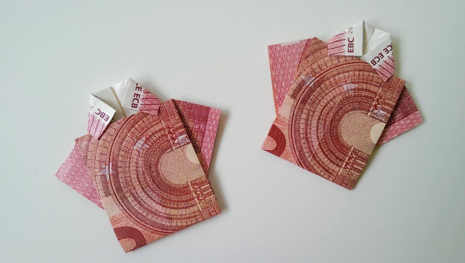 Geldschein Geschenke  Geldschein falten T Shirt HANDMADE Kultur