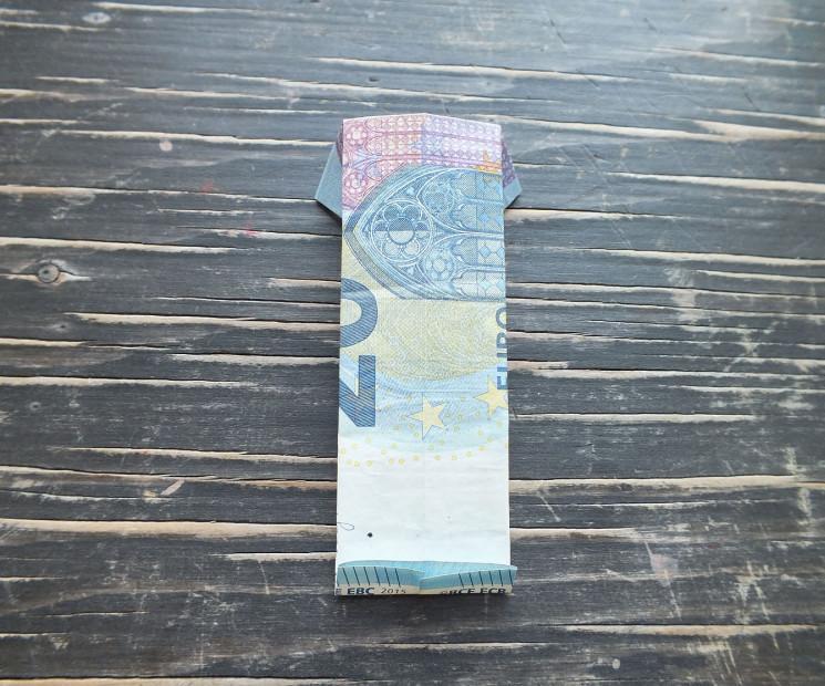 Geldschein Geschenke  Hemd aus Geldschein falten mit einfacher Anleitung auf
