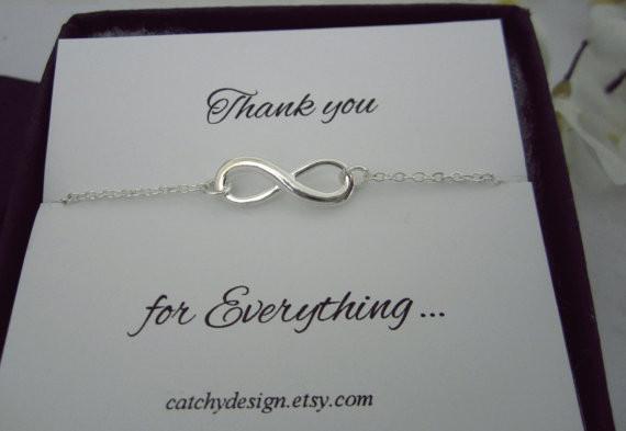 Geschenk Für Besten Freund  Infinity Armband danke Schmuck Armband Brautjungfer