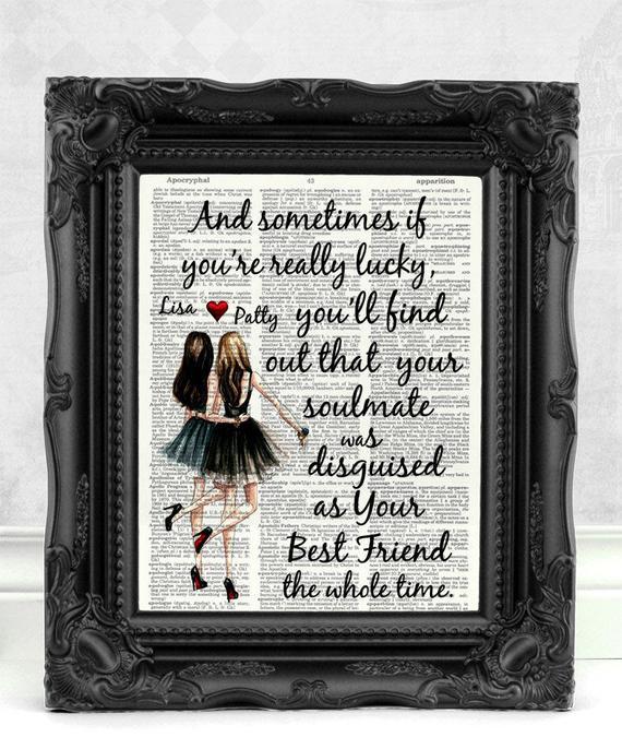 Geschenk Für Besten Freund  Personalisierte beste Freundin Geschenk für besten Freund