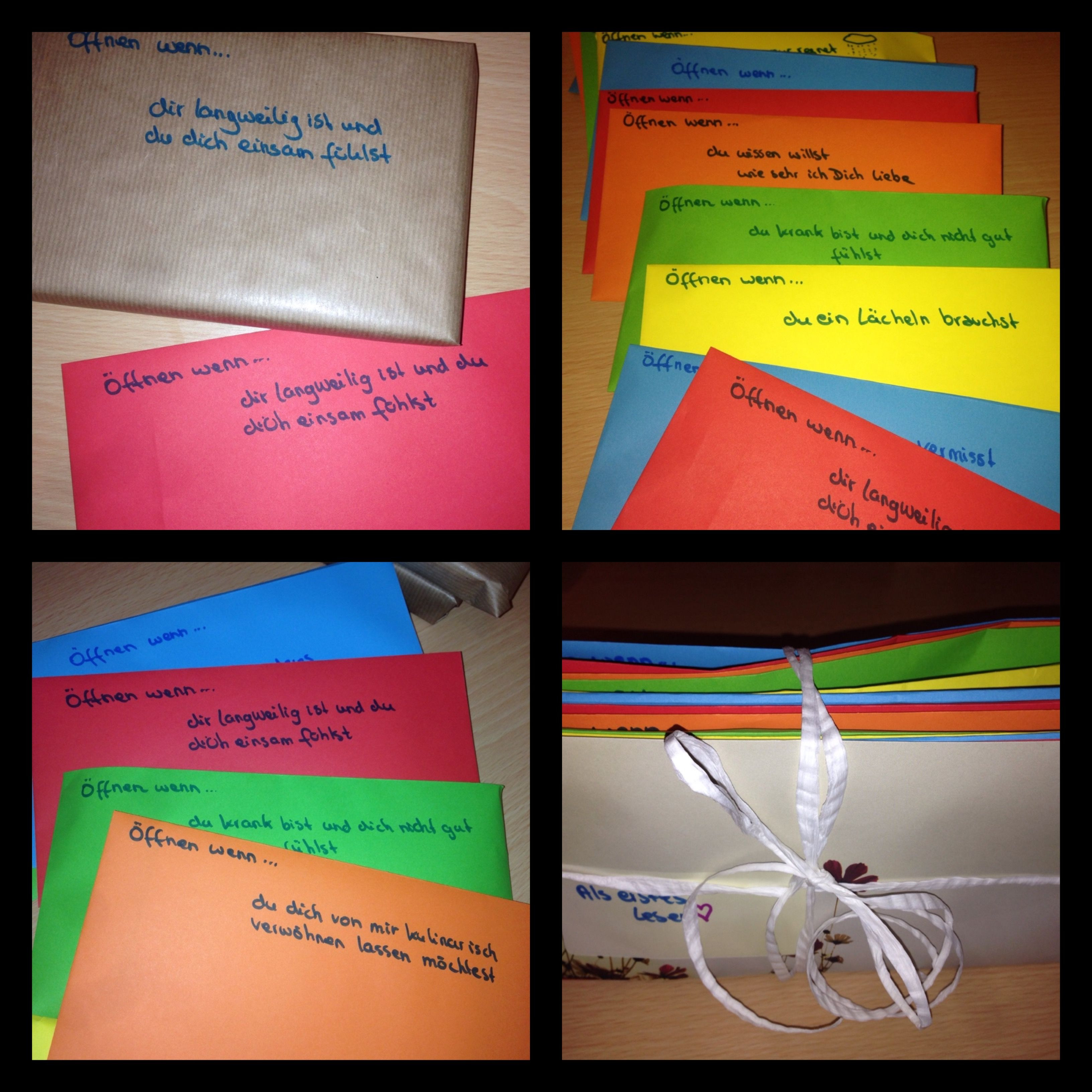 Geschenk Für Meinen Freund  Open when Letters Öffnen wenn Briefe