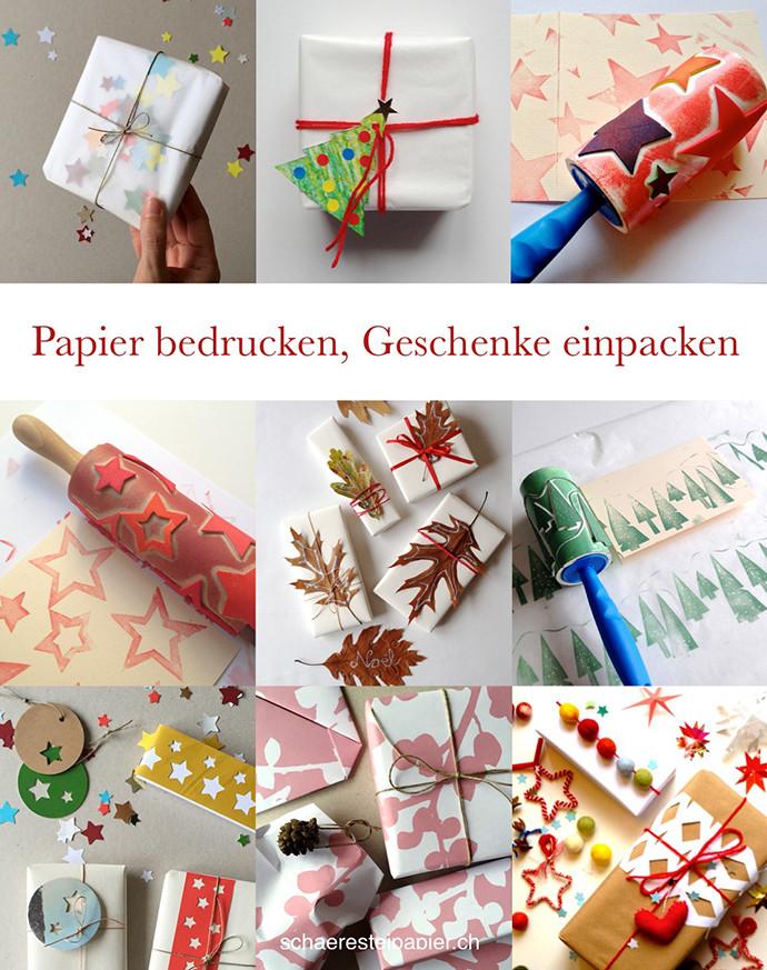 Geschenke Bedrucken  schaeresteipapier Papier selber bedrucken und Geschenke einpacken