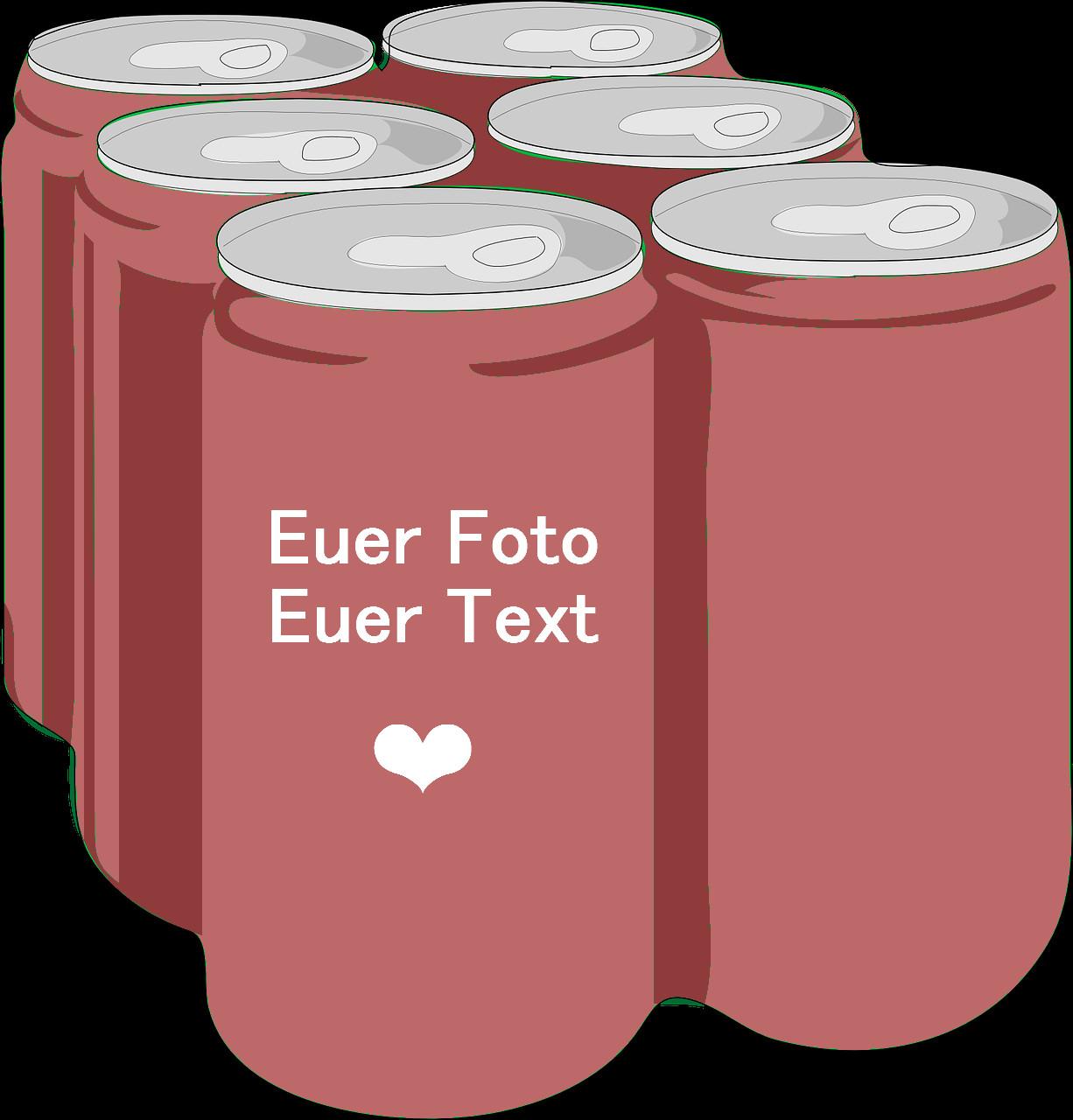 Geschenke Bedrucken  Getränkedosen bedrucken mit eigenen Fotos und eigenem Text