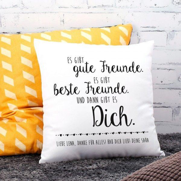 Geschenke Bedrucken  Kissen für Freundin mit Ihrem WUnschtext bedruckt Schöne Geschenke