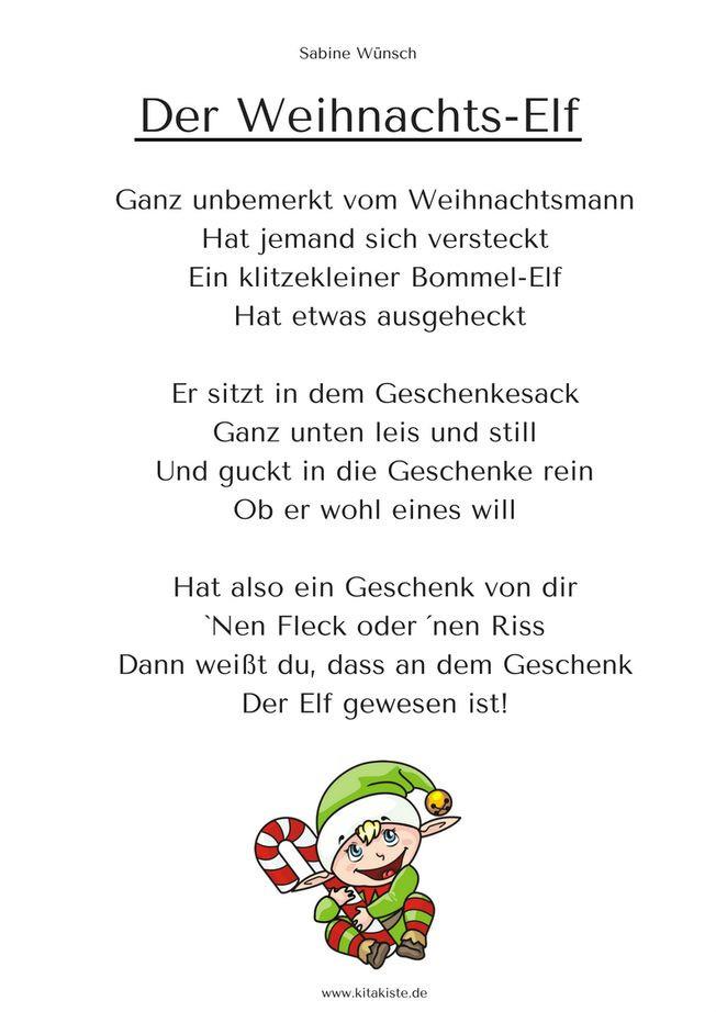 Geschenke Englisch  Die besten 25 Weihnachtsgedichte für kinder Ideen auf