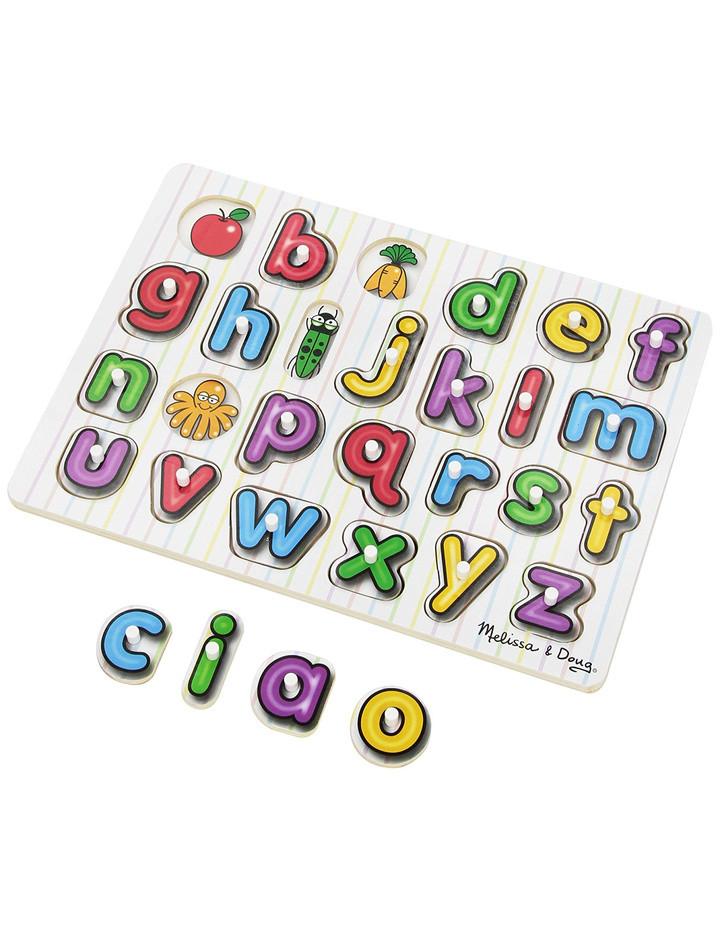 Geschenke Englisch  Hölzernes Steck Puzzle Alphabet Englisch Geschenke