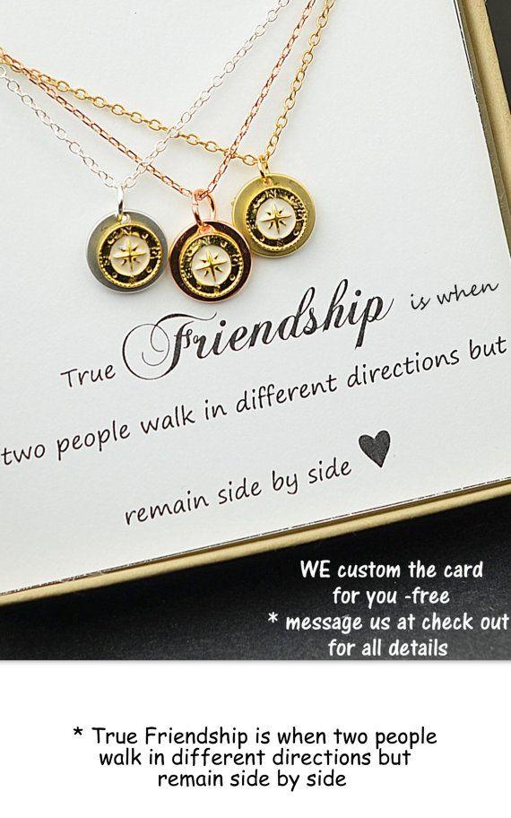 Geschenke Für Beste Freunde  Beste Freund Geschenk Rose gold pass Collier besten