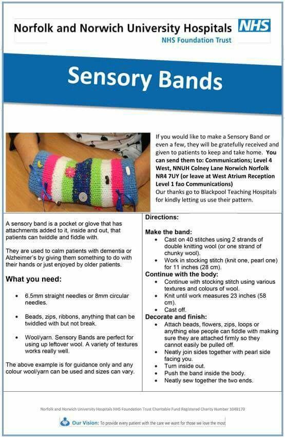 Geschenke Für Demenzkranke  Sensory bands Charity crafts