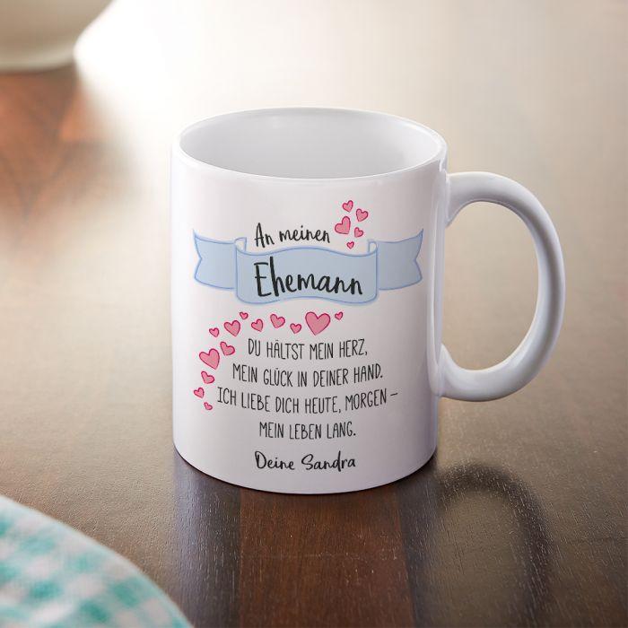 Geschenke Für Ehefrau  Personalisierte Tasse Liebesgedicht Ehemann mit Widmung