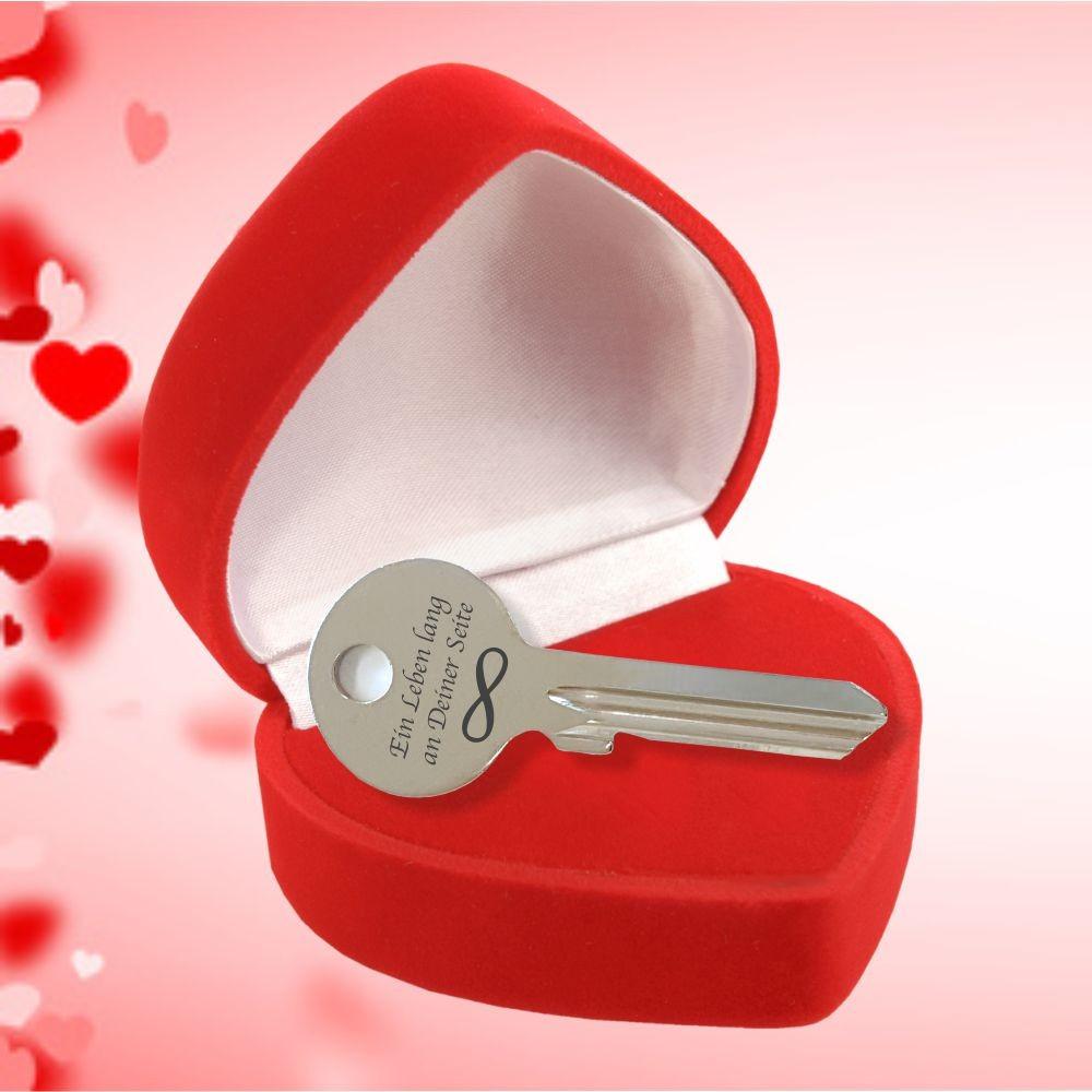 Geschenke Für Ehefrau  Schlüssel Unedliche Liebe mit Unendlichkeitszeichen