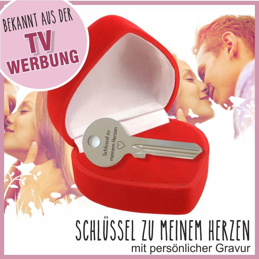 Geschenke Für Ehefrau  Schlüssel zu meinem Herzen mit individueller Gravur