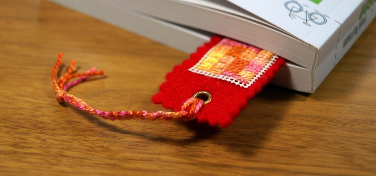 Geschenke Für Eltern Basteln  Lesezeichen selber machen Last Minute Geschenk aus Stoff
