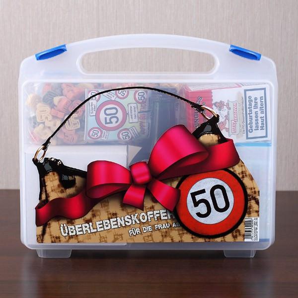 Geschenke Für Frauen Ab 30  Überlebenskoffer für Frauen zum 50