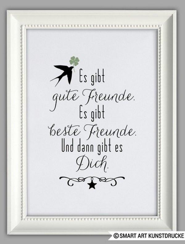 Geschenke Für Gute Freunde  Gute Freunde Poster Geschenk für