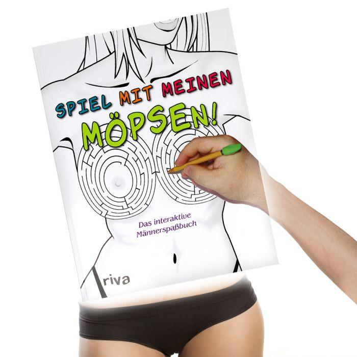 Geschenke Für Junge Männer  Spiel mit meinen Möpsen das interaktive Männerspaßbuch