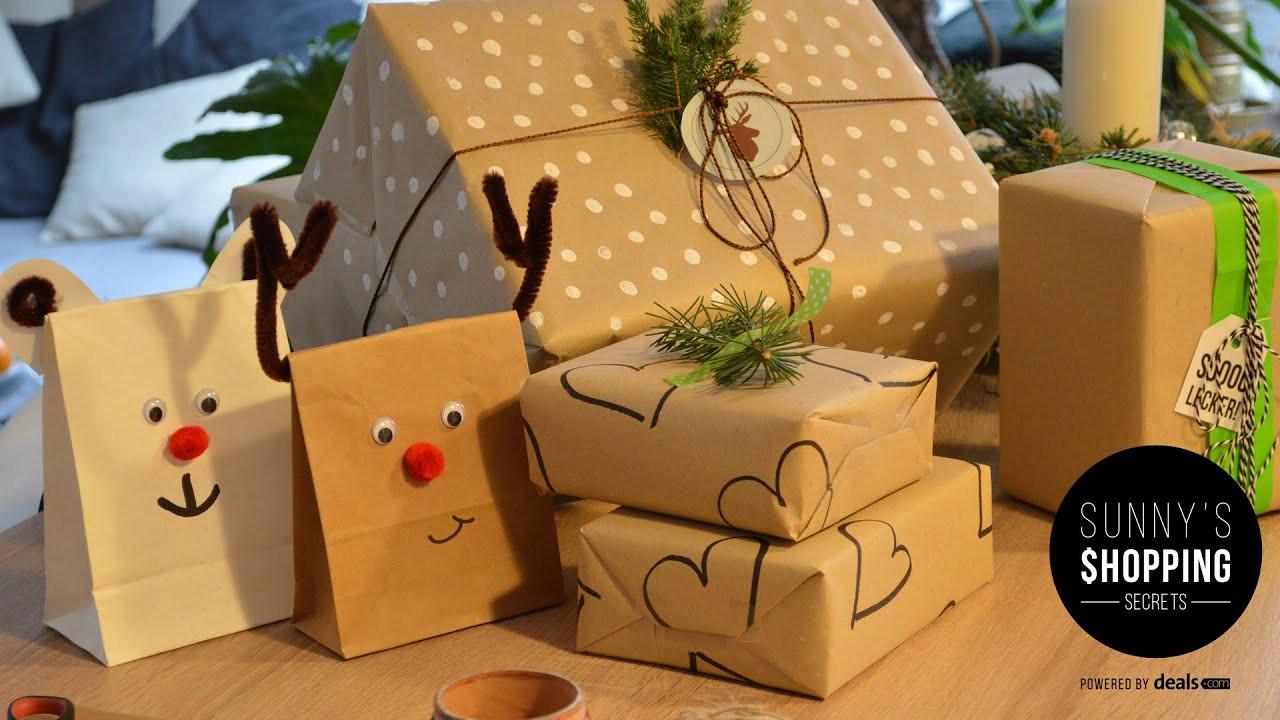 Geschenke Für Kinder Lustig Verpacken  Geschenke verpacken zu Weihnachten