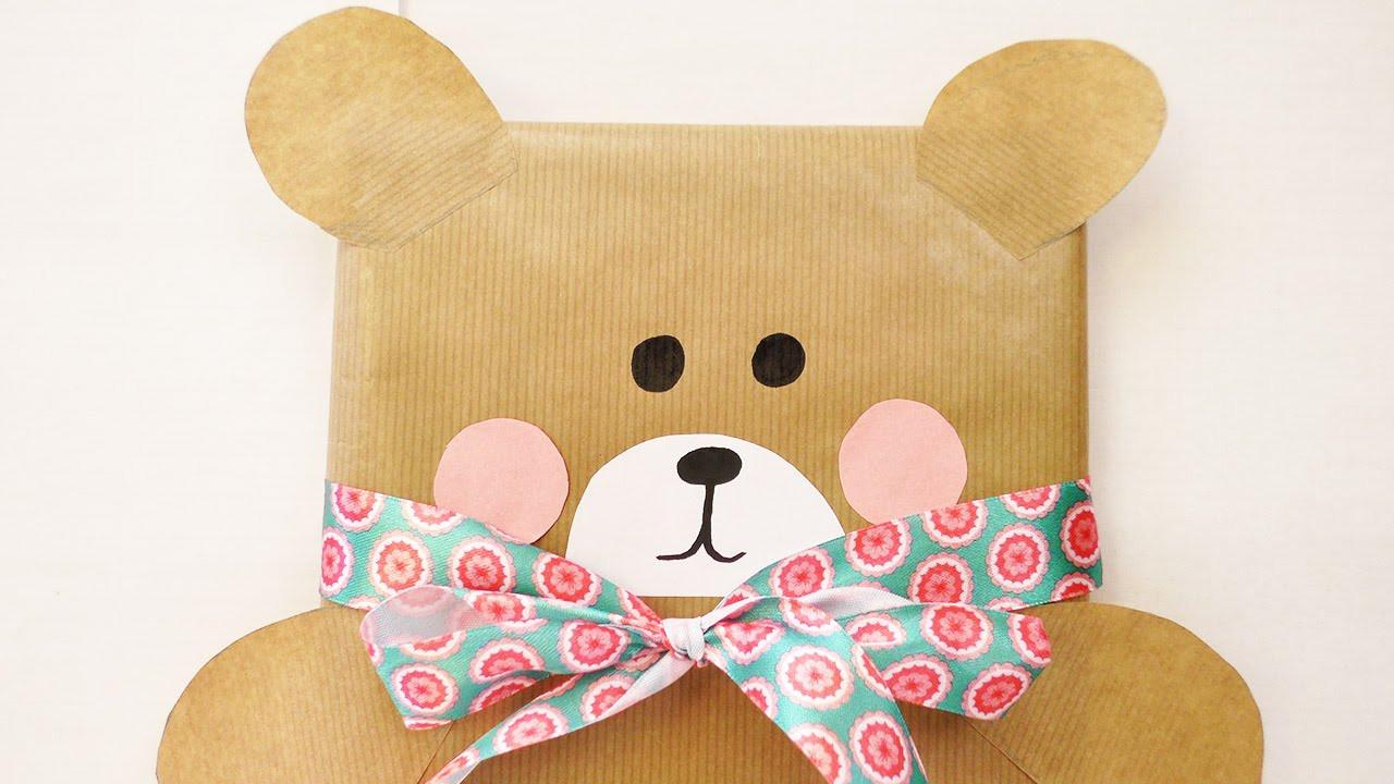 Geschenke Für Kinder Lustig Verpacken  Süße Bärchen Geschenkverpackung
