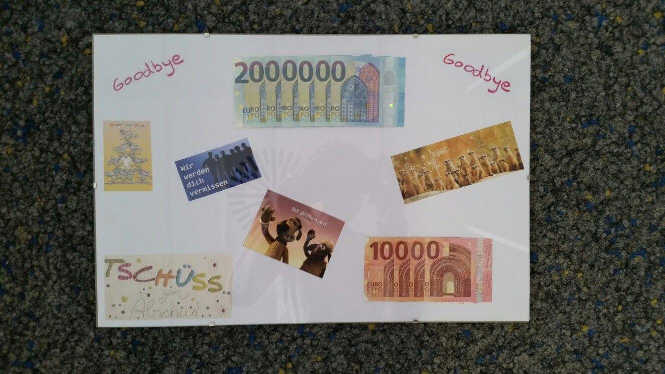 Geschenke Für Kollegen Zum Abschied  Geldgeschenk zum Abschied eines Arbeitskollegen