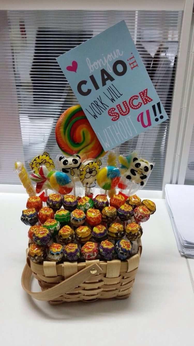 Geschenke Für Kollegen Zum Abschied  lustiges selbstgemachtes Geschenk für Arbeitskollegen mit