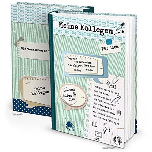 Geschenke Für Kollegen Zum Abschied  Abschiedsbuch für Kollegen hochwertiges Erinnerungsbuch