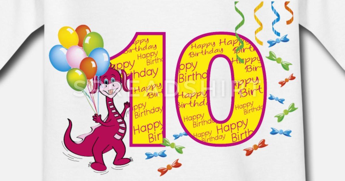 Geschenke Für Mädchen 10 Jahre  zehnten Geburtstag 10 Jahre Mädchen mit draghetta Kinder T