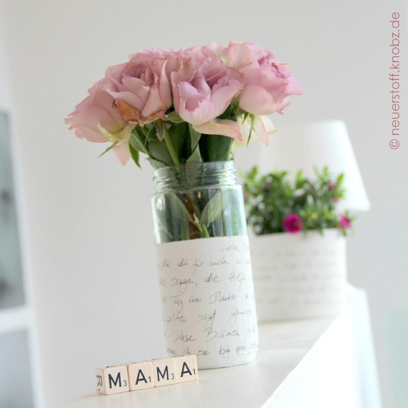 Geschenke Für Mama Basteln  Blumen zum Muttertag Kinderkunst