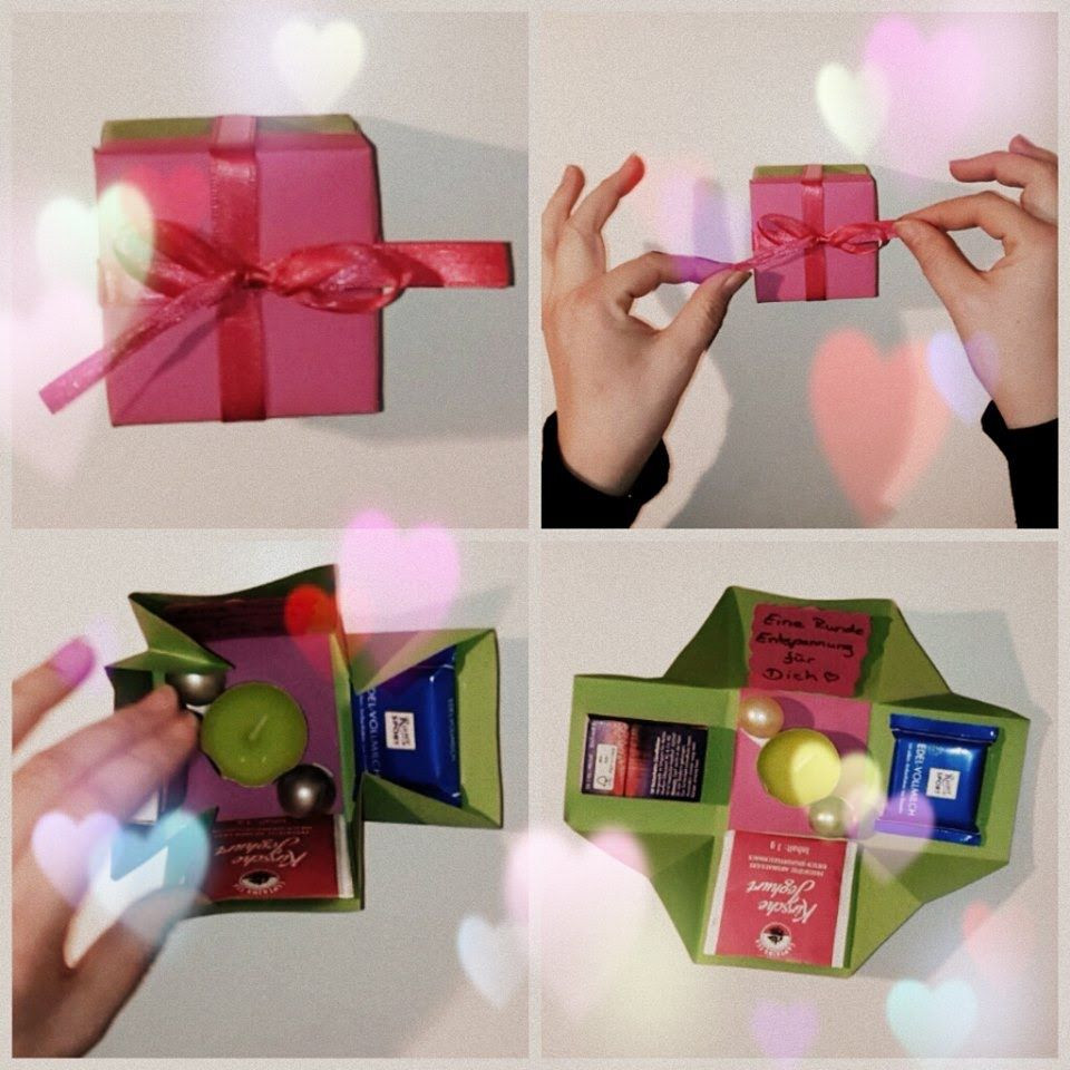 Geschenke Für Mama Basteln  Wohlfühlbox Geschenkidee zum selber basteln