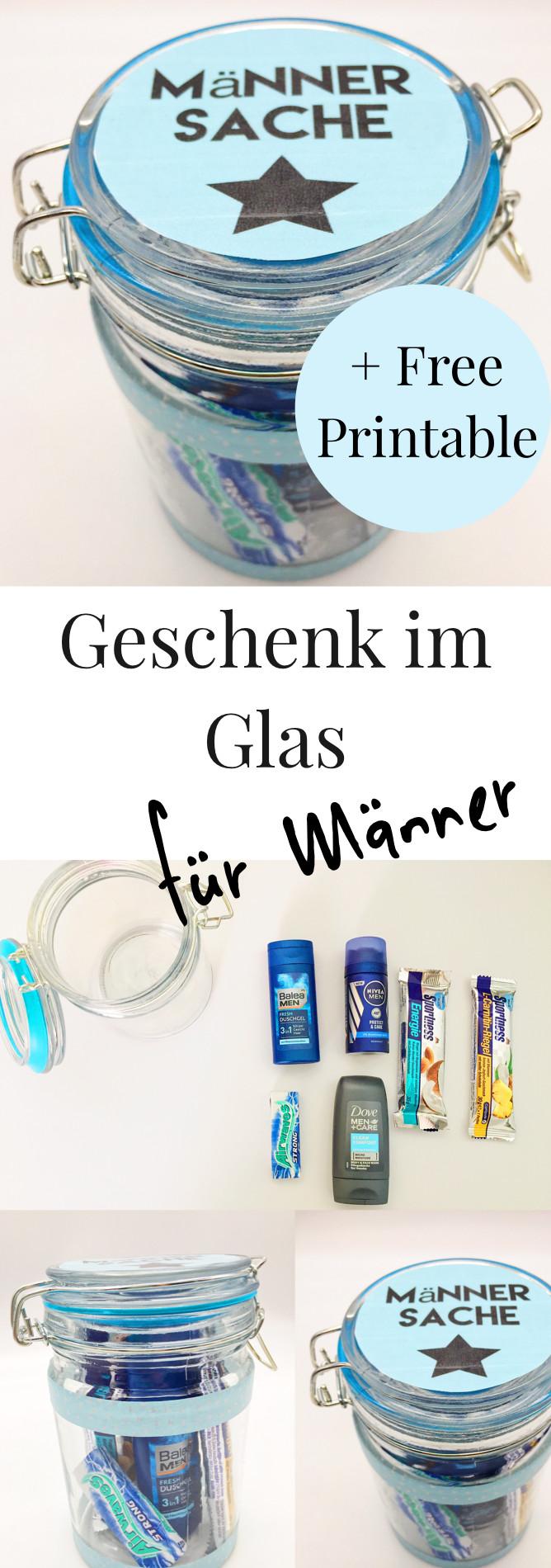Geschenke Für Männer Zum Geburtstag Selber Machen  DIY Geschenke im Glas selber machen Pinterest