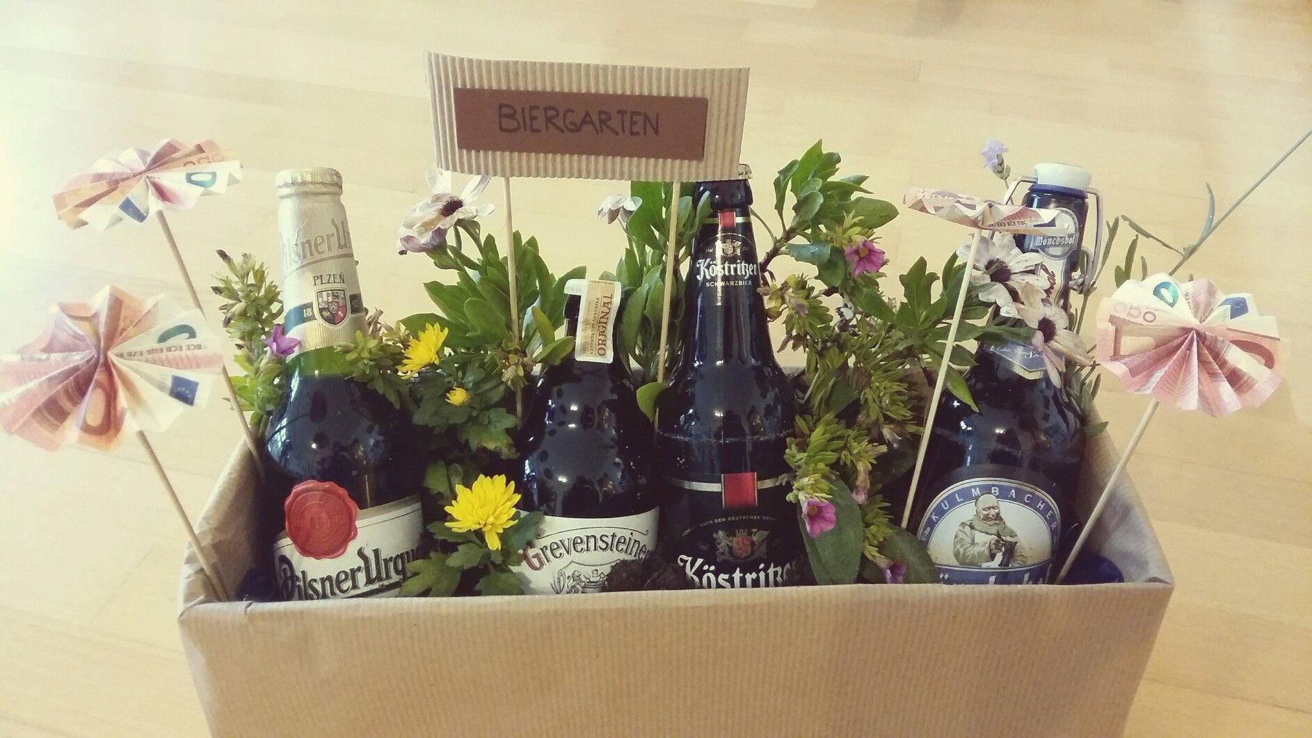 Geschenke Für Männer Zum Geburtstag Selber Machen  Geschenkidee Geldgeschenk für Männer Biergarten