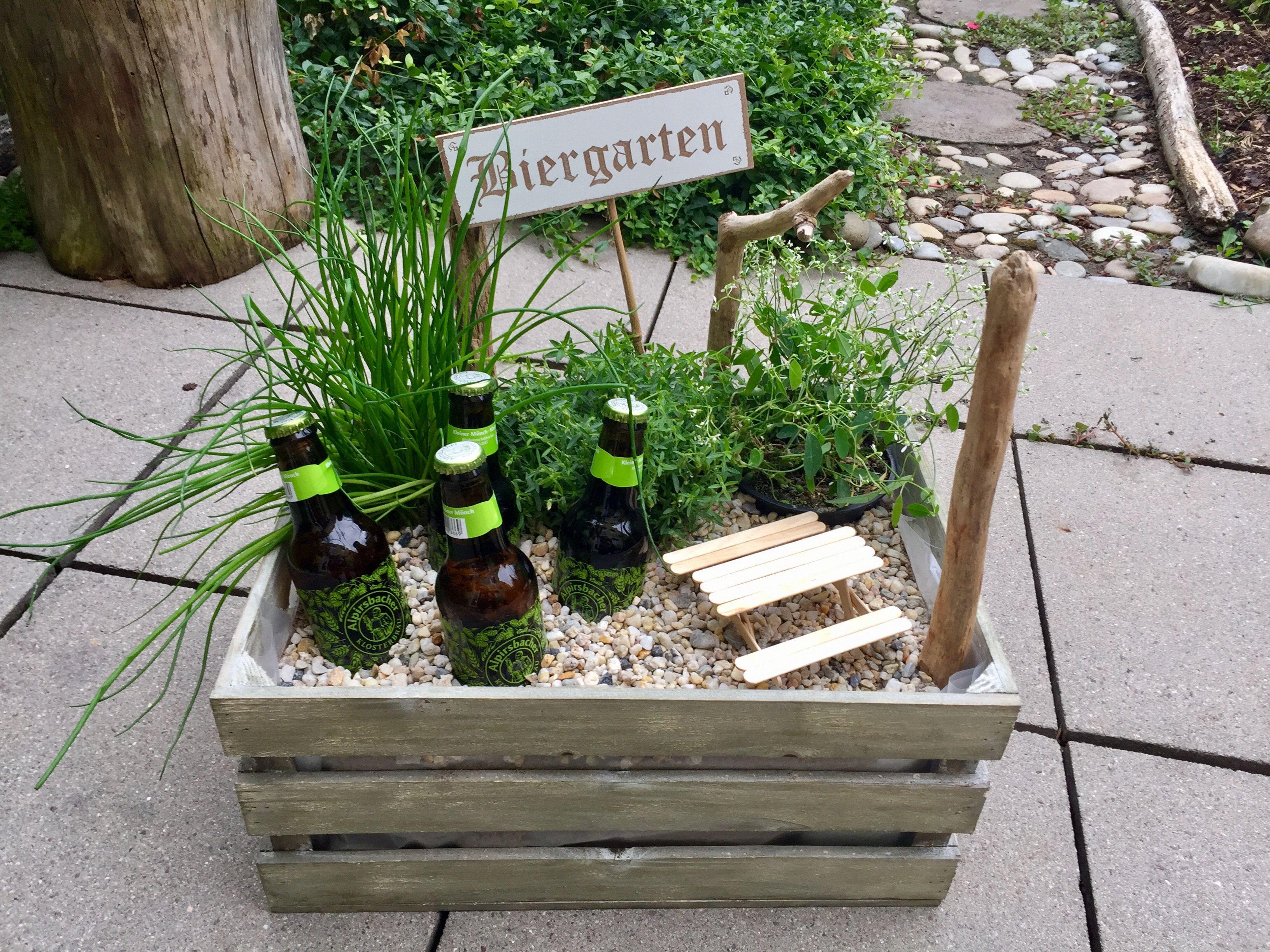 Geschenke Für Männer Zum Geburtstag Selber Machen  Biergarten Geschenk Ein tolles Geschenk und einfach zu