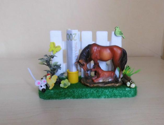 Geschenke Für Pferdeliebhaber  Geschenke für Frauen Geldgeschenk Pferde zum Geburtstag