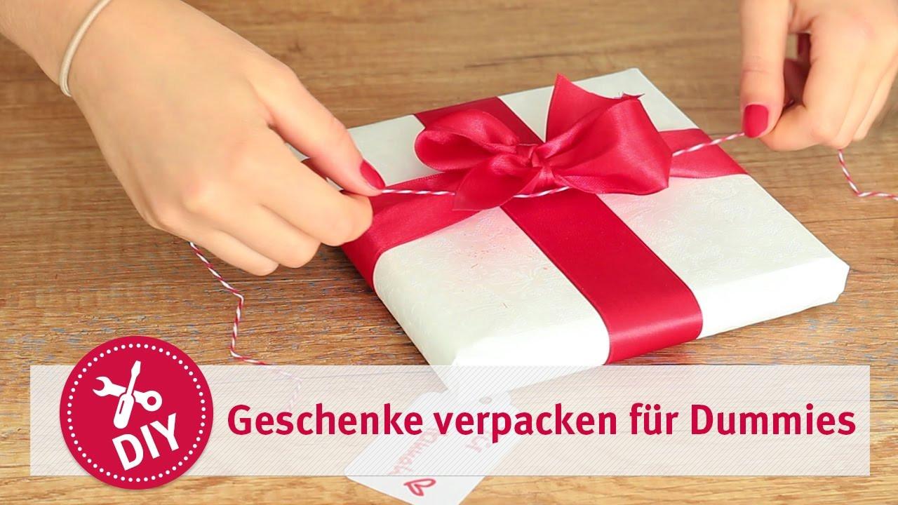 Geschenke Für Psychologen  Geschenke verpacken Tutorial für Dummies