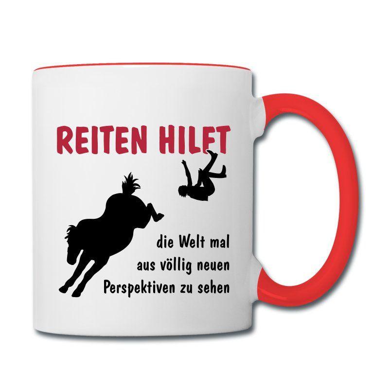 Geschenke Für Reiter  Tasse mit einem Pferdemotiv aus der Kategorie