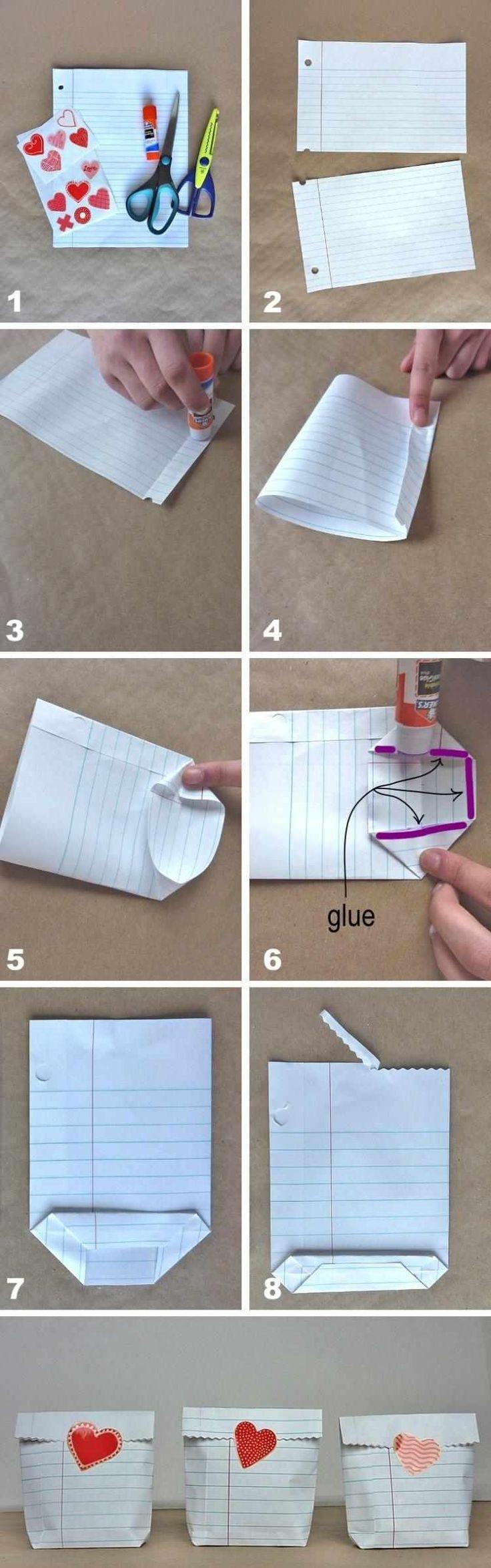 Geschenke Für Vorschulkinder  Tüte aus einem Blatt Papier falten Anleitung