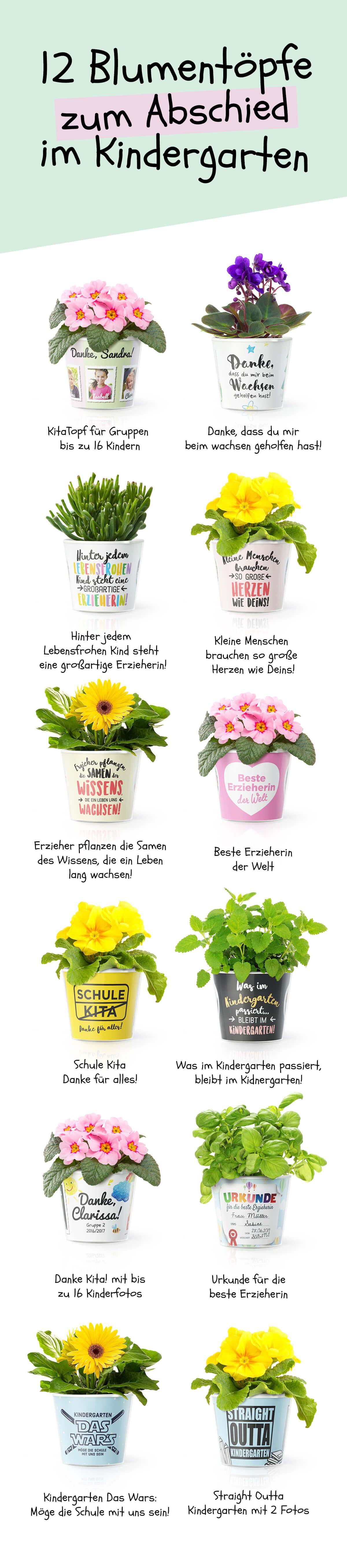 Geschenke Für Vorschulkinder  12 Abschiedsgeschenk Blumentöpfe für Kindergarten Erzieher