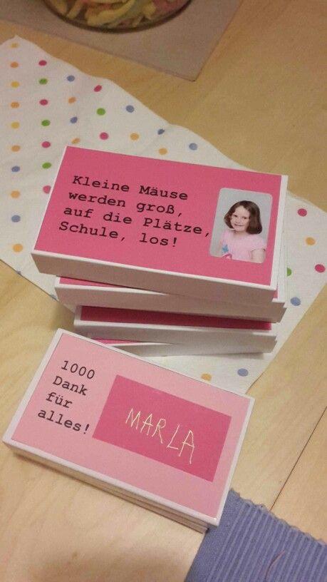 Geschenke Für Vorschulkinder  Kindergarten Abschied Lotte Pinterest