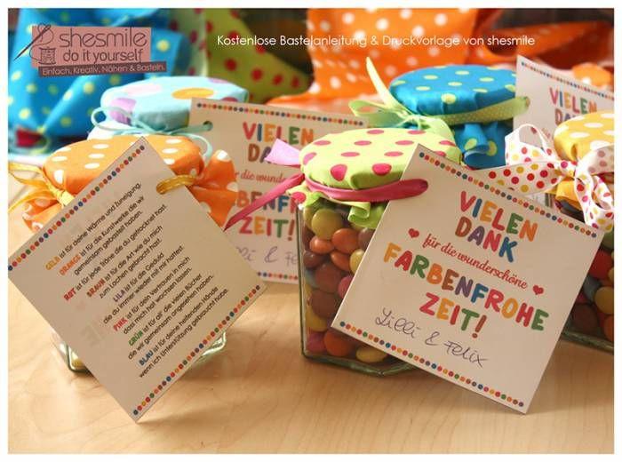 Geschenke Für Vorschulkinder  Abschiedsgeschenk Danke für Farbenfrohe Zeit