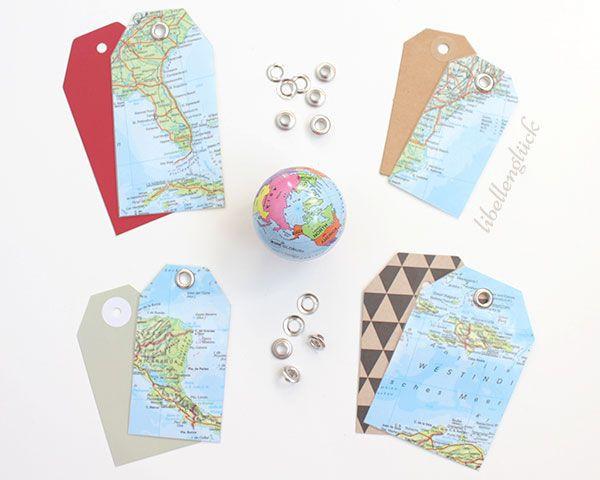Geschenke Für Weltenbummler  DIY für Weltenbummler Kofferanhänger selbst gemacht