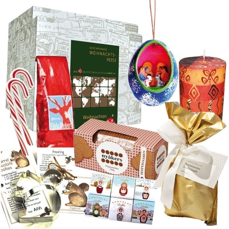 """Geschenke Für Weltenbummler  Weihnachtsbox """"Around the World"""" als Geschenk für"""