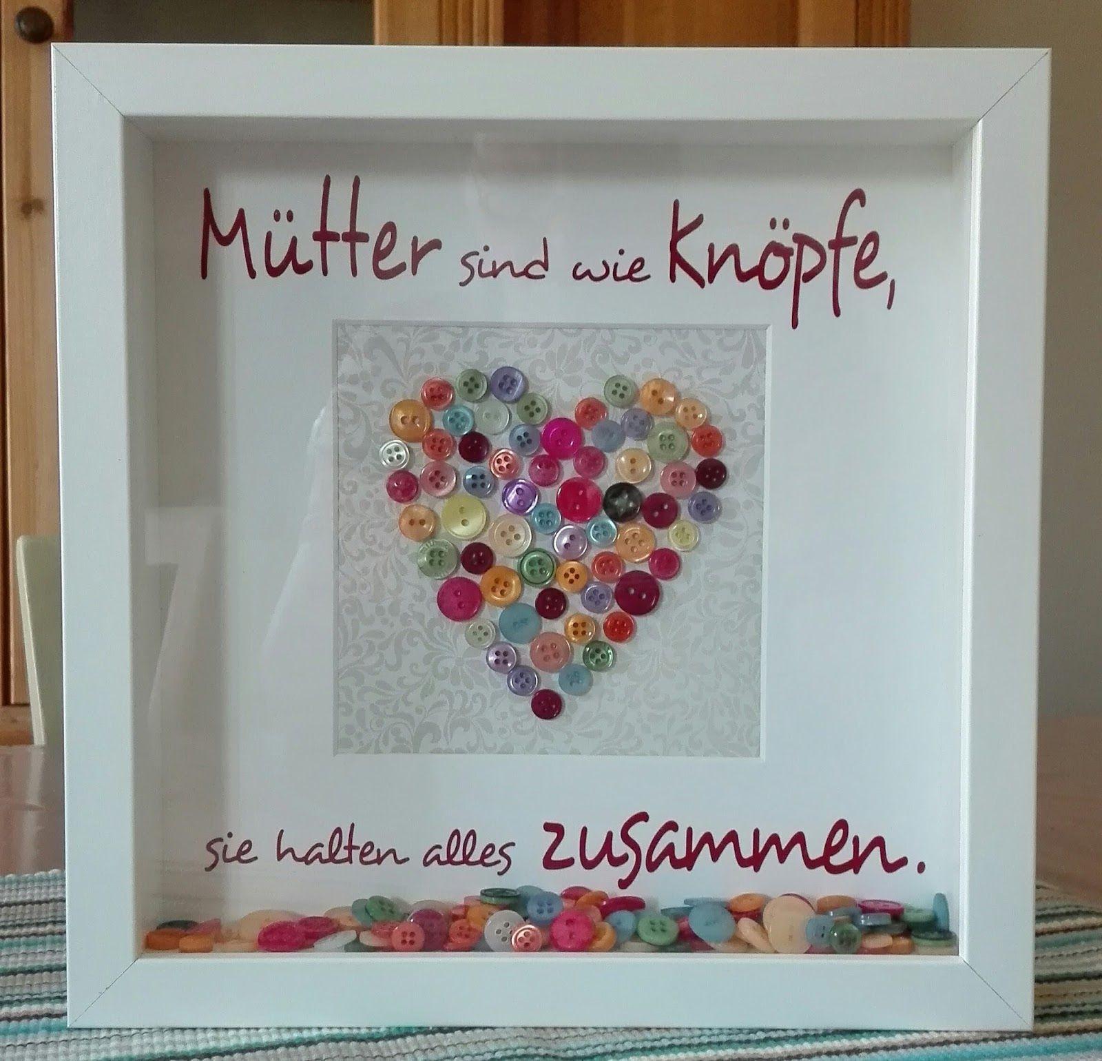 Geschenke Für Werdende Eltern  Mütter sind wie Knöpfe Muttertag Herz Ribba Vinyl