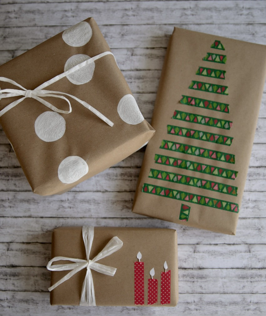 Geschenke Hübsch Verpacken  Geschenke verpacken mit Packpapier drei Ratzfatz Ideen