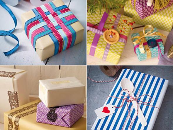 Geschenke Hübsch Verpacken  Geschenke verpacken Präsente kreativ verhüllt