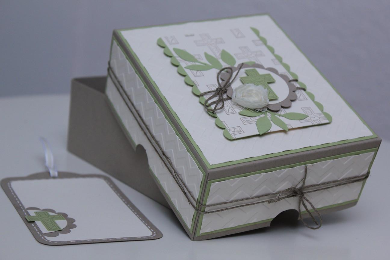 Geschenke Konfirmation  Geschenkbox Konfirmation Stempel doch mal Basteln mit
