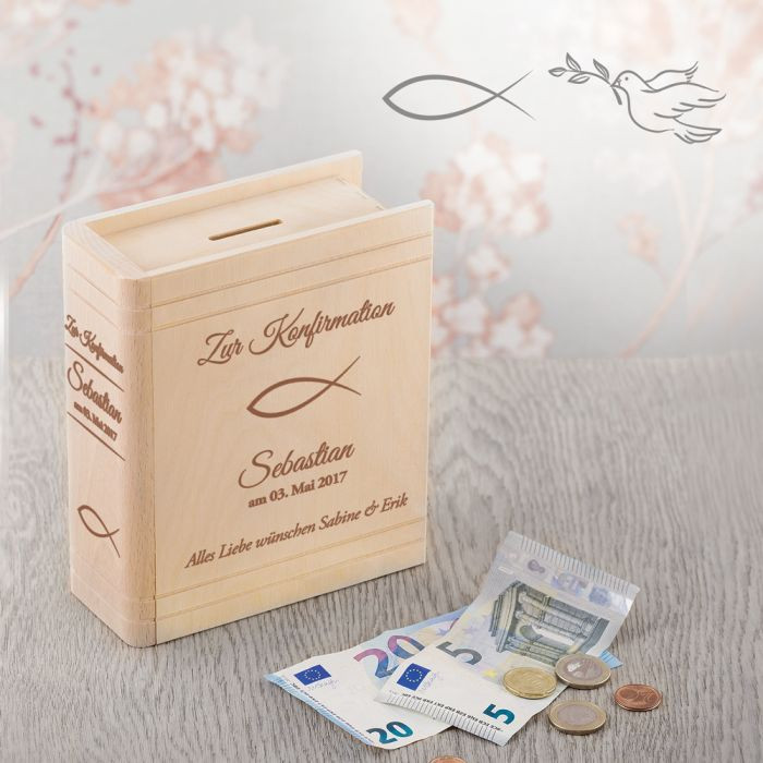 Geschenke Konfirmation  Personalisiertes Sparbuch zur Konfirmation christliche