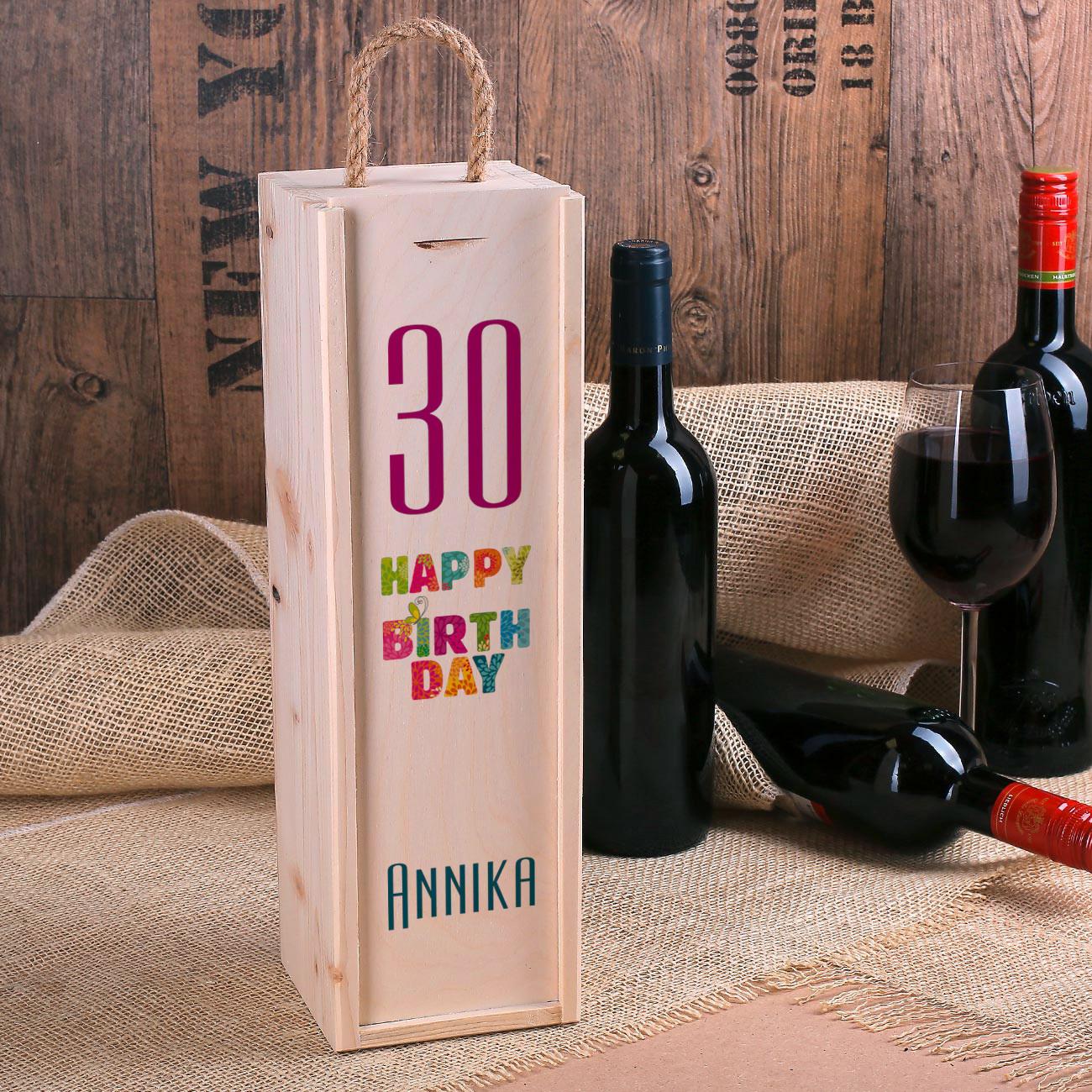 Geschenke Online  Happy Birthday Flaschenverpackung zum Geburtstag