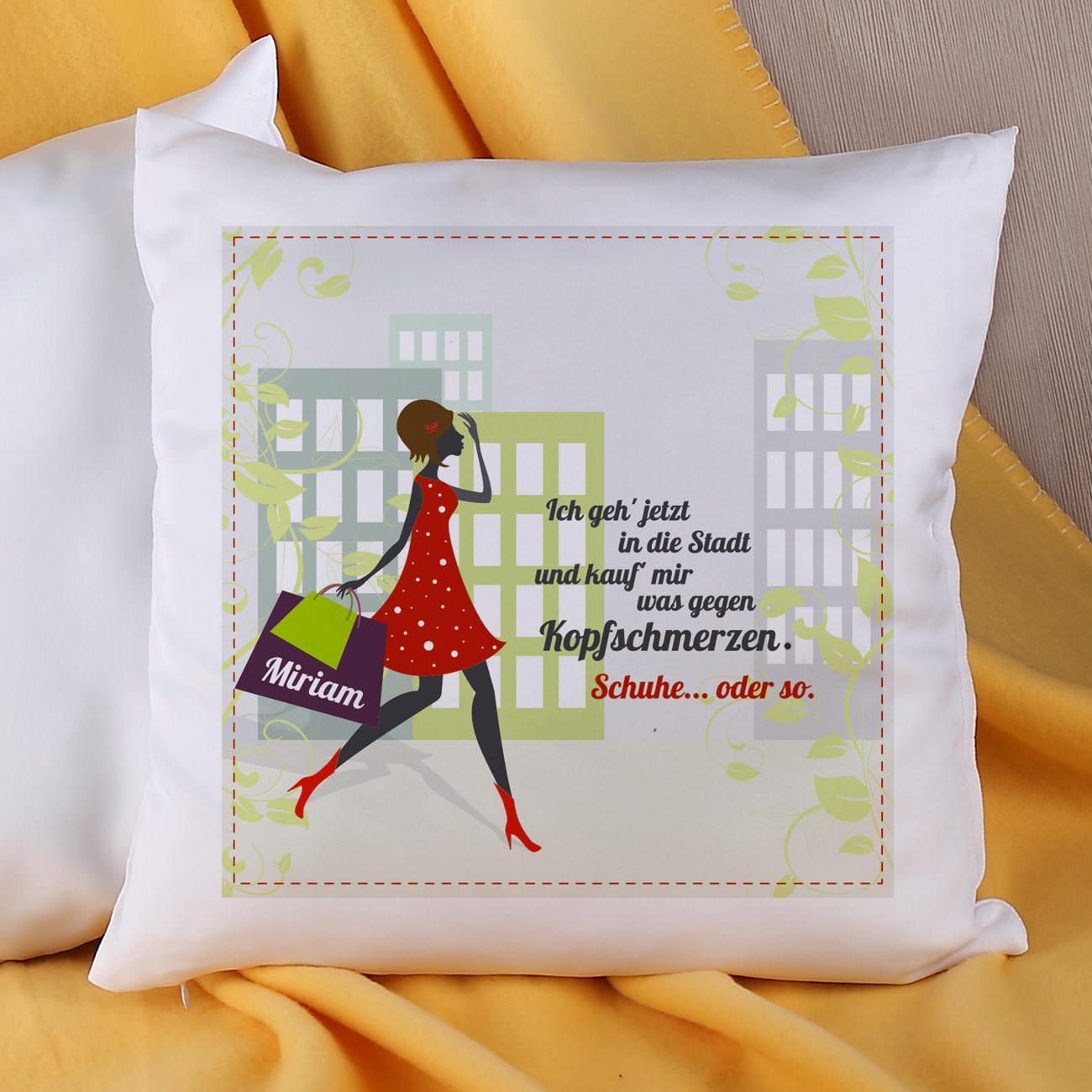 Geschenke Online  Kissen für Frauen mit Schuhtick