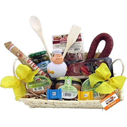 Geschenke-Spiele-Ideen  Präsentkorb für Köche leckeres und passendes Geschenk