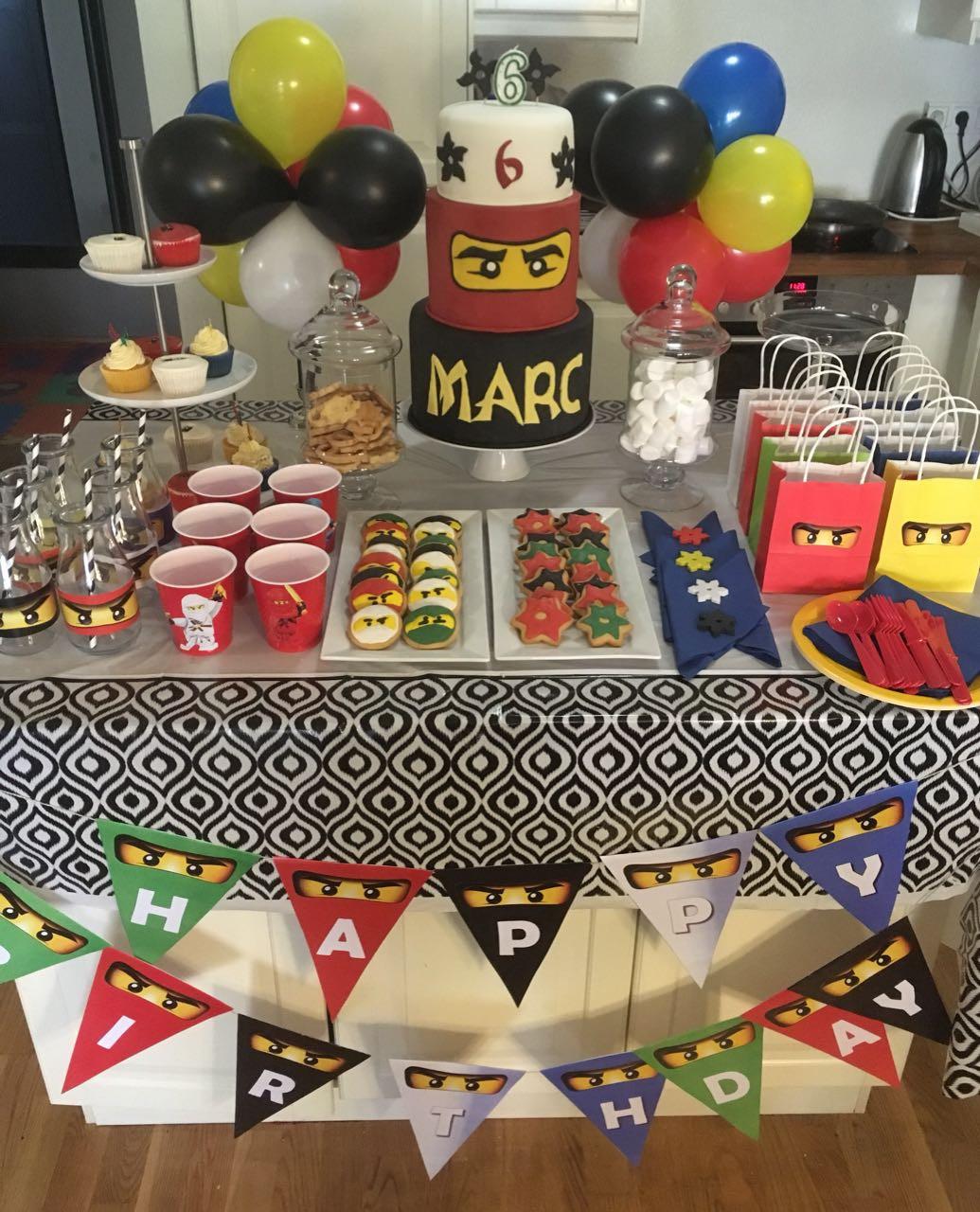 Geschenke-Spiele-Ideen  Nonjago Kindergeburtstag Spiele Deko Geschenke